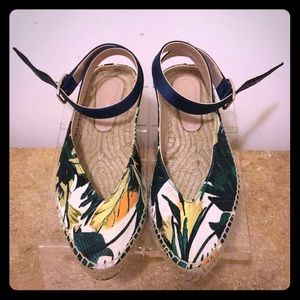 Stuart Weitzman Espadrille Ankle strap sandals 7.5